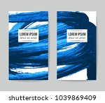 set of vector business card... | Shutterstock .eps vector #1039869409