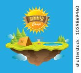 vector summer kids camp concept ... | Shutterstock .eps vector #1039869460