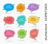 quote box. vector set of speech ... | Shutterstock .eps vector #1039871833
