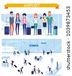 friends travel together. vector ... | Shutterstock .eps vector #1039873453
