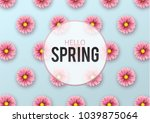 hello spring  floral greeting... | Shutterstock .eps vector #1039875064