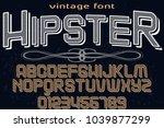 font alphabet typeface... | Shutterstock .eps vector #1039877299