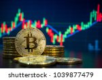 bitcoin and cryptocurrency... | Shutterstock . vector #1039877479