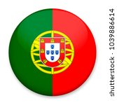 flag of portugal in the form of ... | Shutterstock . vector #1039886614