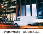 truck of logistic shipping... | Shutterstock . vector #1039886668