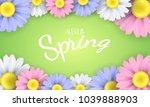 hello spring phrase. seasonal... | Shutterstock .eps vector #1039888903