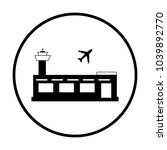 airport icon in circle   Shutterstock .eps vector #1039892770