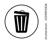 trash can icon | Shutterstock .eps vector #1039892836