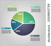 pie chart infographic... | Shutterstock .eps vector #1039893739