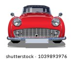vector retro car. available eps ... | Shutterstock .eps vector #1039893976