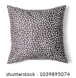 soft decorative pillow on white ...   Shutterstock . vector #1039895074