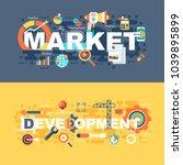 market and development set of...
