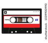plastic audio cassette tape.... | Shutterstock .eps vector #1039900990