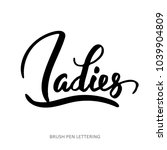 ladies. vector quote isolated... | Shutterstock .eps vector #1039904809