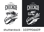 vintage gangster vehicle black...   Shutterstock .eps vector #1039906609