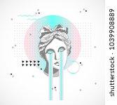trendy sculpture modern design | Shutterstock .eps vector #1039908889