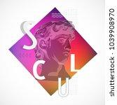 trendy sculpture modern design | Shutterstock .eps vector #1039908970