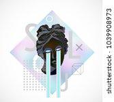 trendy sculpture modern design | Shutterstock .eps vector #1039908973
