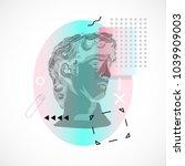 trendy sculpture modern design | Shutterstock .eps vector #1039909003