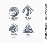 simple logo collection.... | Shutterstock .eps vector #1039909036