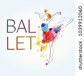 ballet background. flyer ...   Shutterstock .eps vector #1039912060