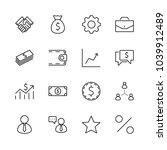 set of business vector line... | Shutterstock .eps vector #1039912489