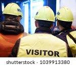 group of visitors on the... | Shutterstock . vector #1039913380