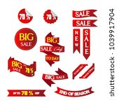 a set of big sale banner... | Shutterstock .eps vector #1039917904