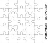 jigsaw puzzle blank template or ... | Shutterstock .eps vector #1039920334