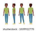 african american teenage boy or ... | Shutterstock .eps vector #1039922770