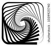 contour lines of overlapping... | Shutterstock .eps vector #1039925740
