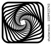 contour lines of overlapping... | Shutterstock .eps vector #1039925743
