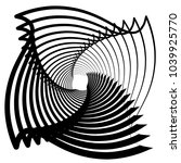 contour lines of overlapping... | Shutterstock .eps vector #1039925770