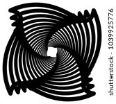 contour lines of overlapping... | Shutterstock .eps vector #1039925776