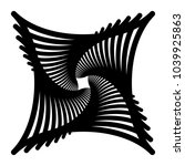 contour lines of overlapping... | Shutterstock .eps vector #1039925863