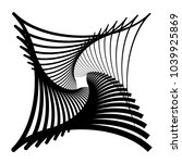 contour lines of overlapping... | Shutterstock .eps vector #1039925869