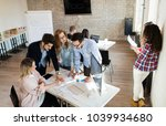 creative young business people... | Shutterstock . vector #1039934680