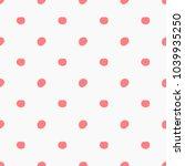 doodle pink polka dots pattern. ... | Shutterstock .eps vector #1039935250