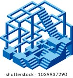 under construction. impossible... | Shutterstock .eps vector #1039937290