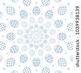 easter egg abstract pattern... | Shutterstock .eps vector #1039938139