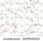 modern minimalist white marble... | Shutterstock .eps vector #1039940353