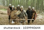 medieval vikings running in the ... | Shutterstock . vector #1039940644