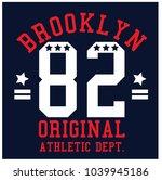 brooklyn original athletic dept.... | Shutterstock .eps vector #1039945186