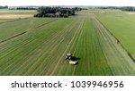 aerial drone view photo farmer... | Shutterstock . vector #1039946956