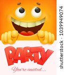 Party Card Template With Yello...