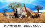 african savannah on the...   Shutterstock . vector #1039952209