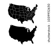 united states of america map.... | Shutterstock .eps vector #1039952650