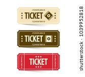 tickets set. vector cinema... | Shutterstock .eps vector #1039952818