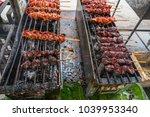 food stall in a market in krabi ... | Shutterstock . vector #1039953340