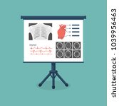 medical billboard with diagnose.... | Shutterstock . vector #1039956463